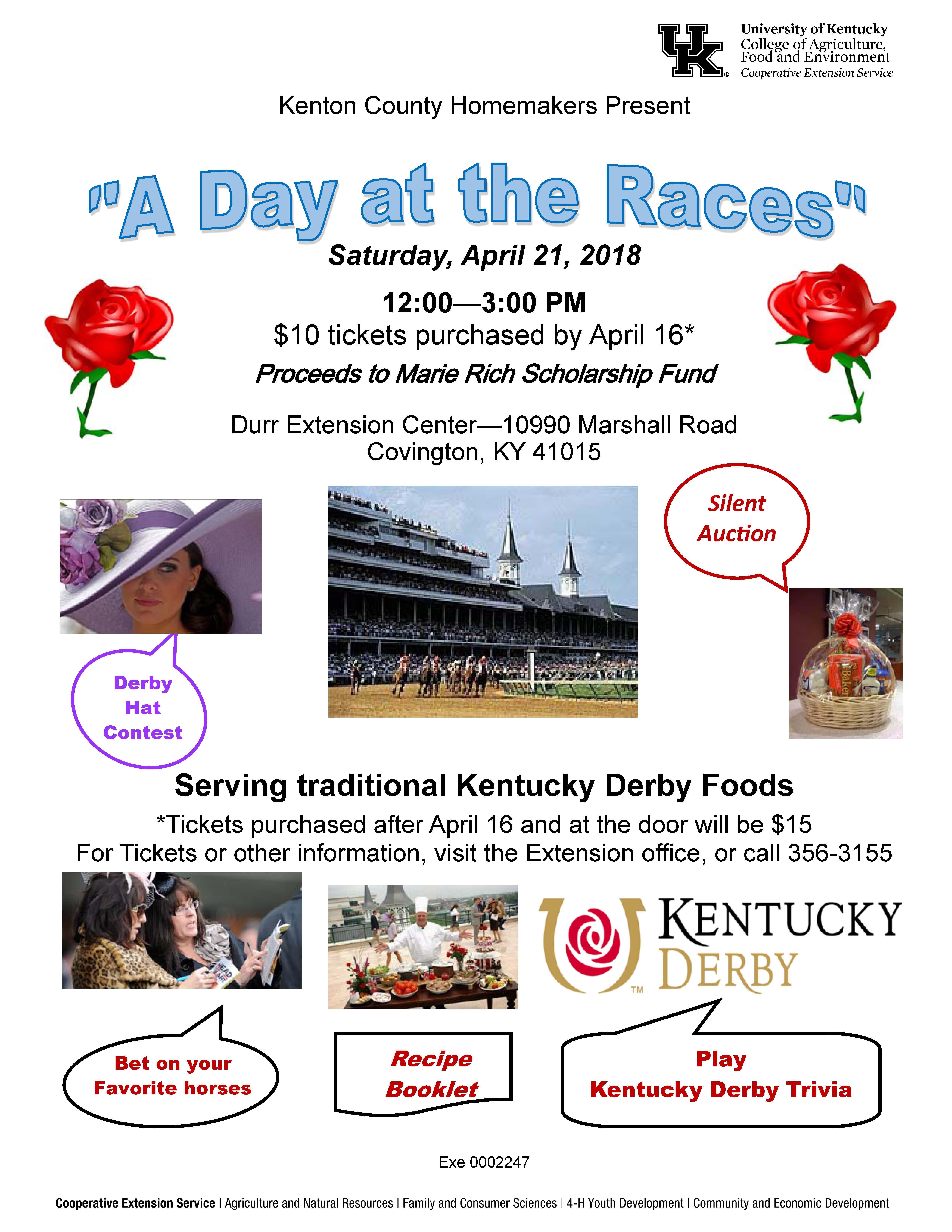 A day at the races flier